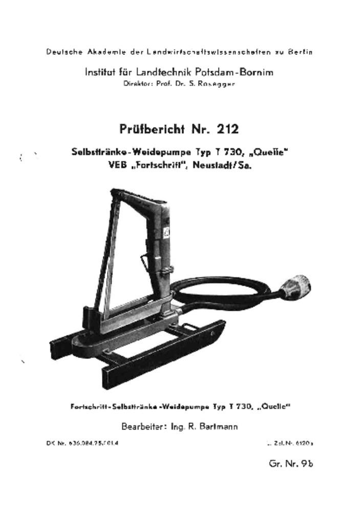 Selbsttränke-Weidepumpe T 730 :: Deutsches Landwirtschaftsmuseum ...