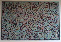 Keith Haring: ohne Titel (Painting for Francesca Alinovi)