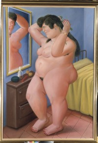 Fernando Botero: <em>Woman in front of a mirror</em>