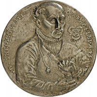 Medaille auf Theophrast Paracelsus, 1538