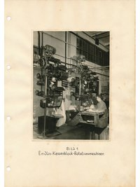 Endlos-Kassenblock-Rotationsmaschine; Foto, 1955