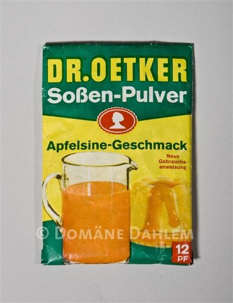 Packchen Sossen Pulver Apfelsine Geschmack Von Dr Oetker