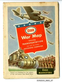 Karte, Landkarte, Esso War Map