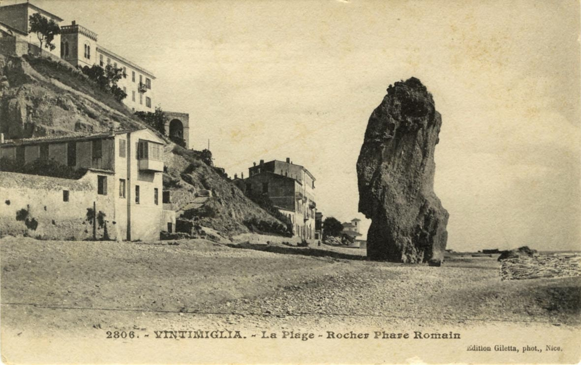 Italien - Vintimiglia - La Plage - Rocher Phare Romain (Museum Wolmirstedt RR-F)