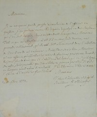 Brief von Zollikofer von 1771