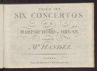 Six concertos for the harpsichord or organ : third set