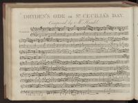 Dryden's ode on St. Cecilia's day