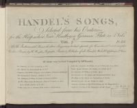 Handel's songs selected from his oratorios : for the harpsichord, ...