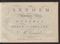 The anthem : performed in Westminster Abby at the funeral of Queen ...