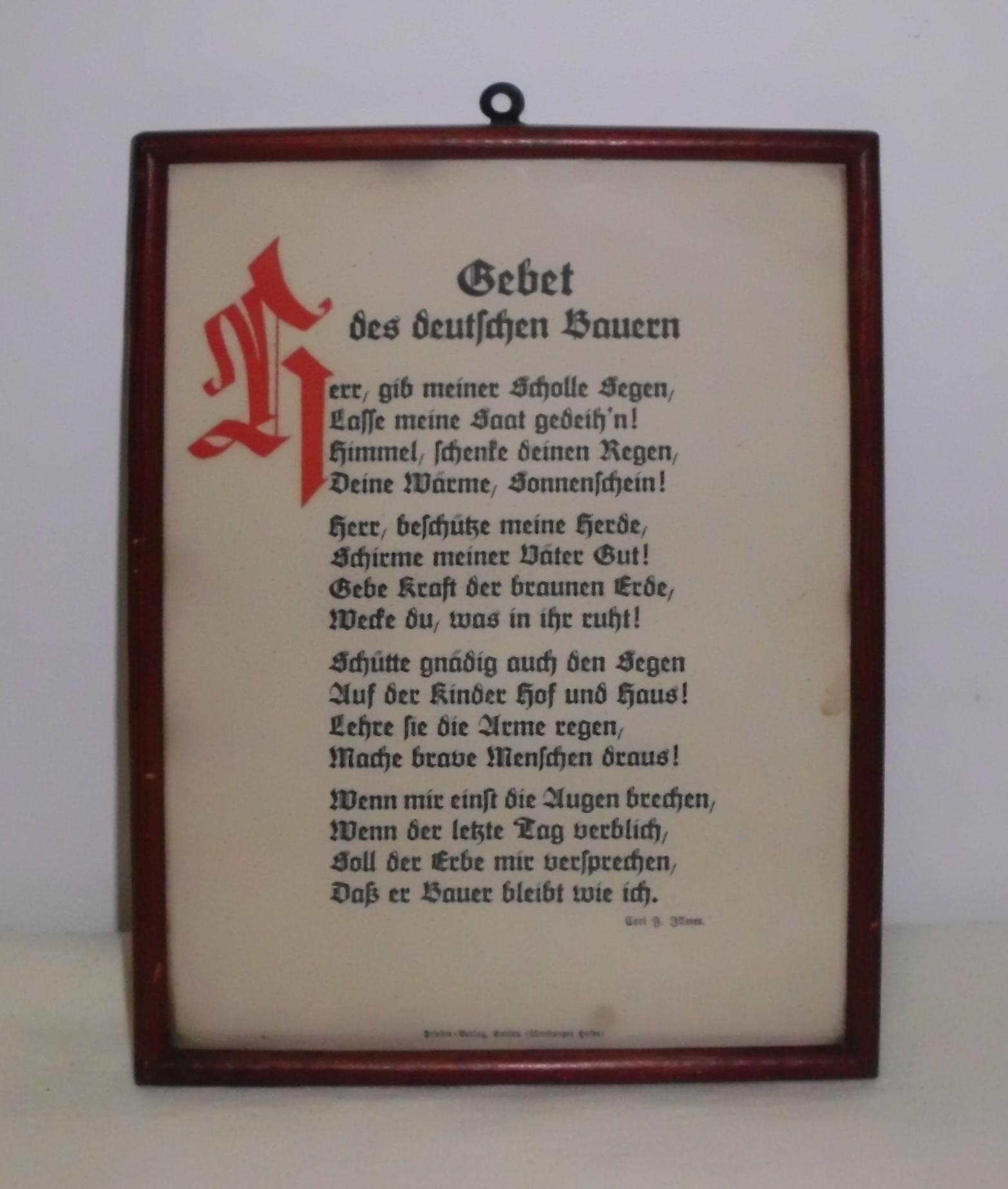 Bilderrahmen mit Gebet :: DampfLandLeute - Museum Eslohe :: museum ...